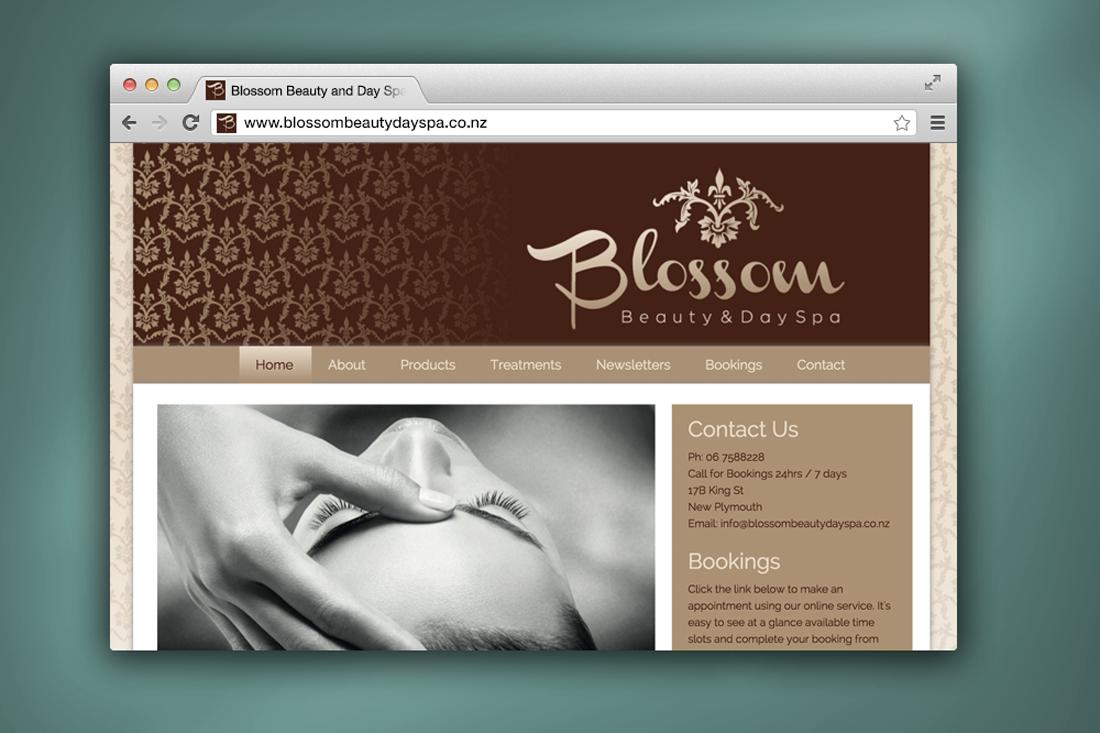 Blossom Beauty Day Spa website design