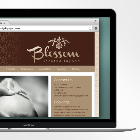 Blossom Beauty Day Spa website design
