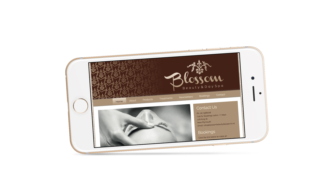 Blossom Beauty Day Spa responsive mobile website design