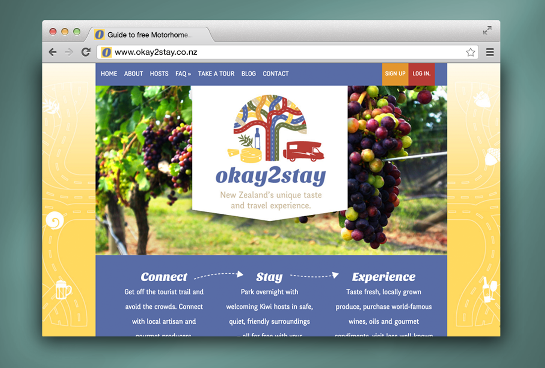 Okay2Stay website homepage design