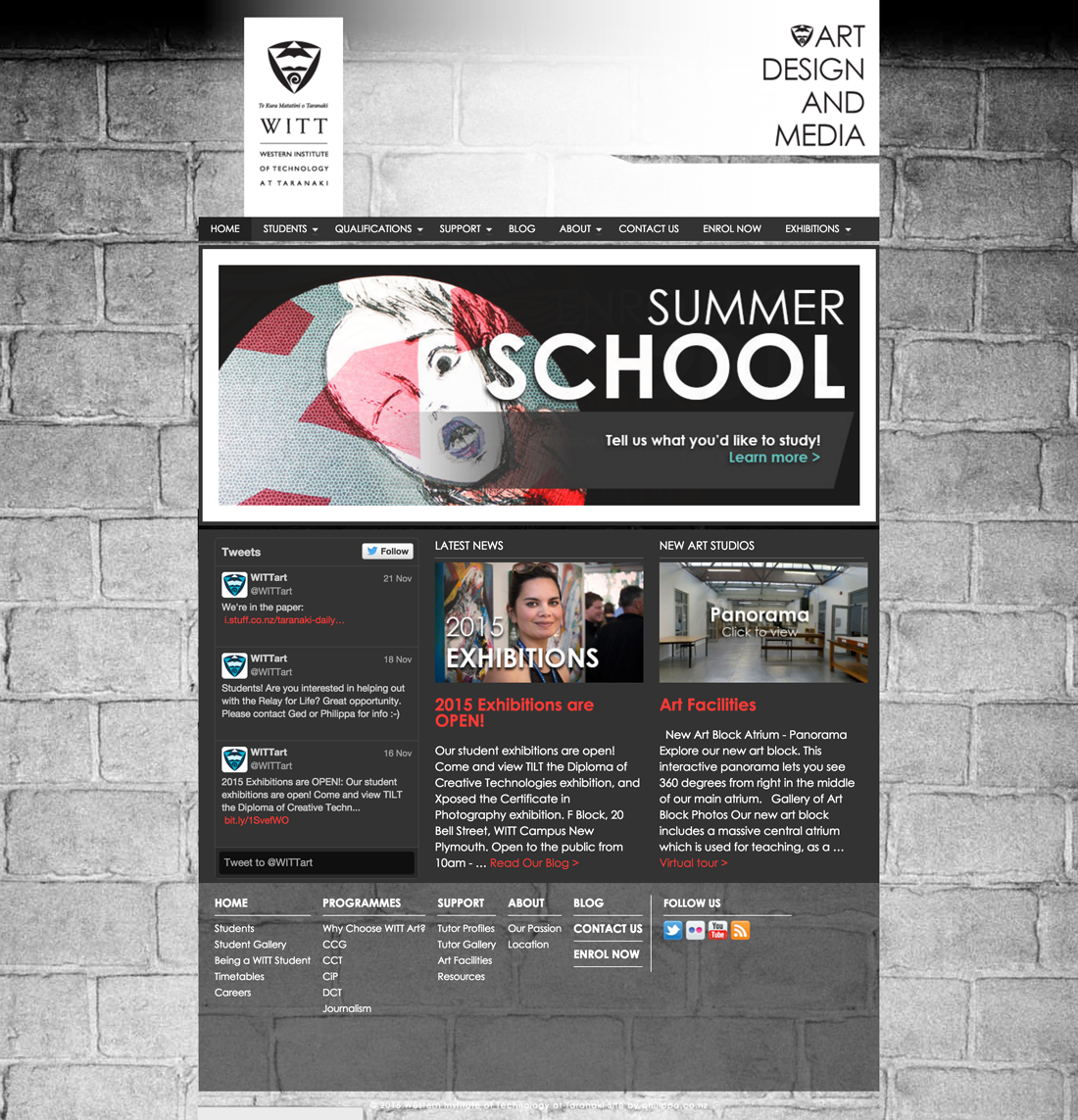 WITT Art homepage design